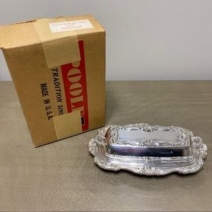 Poole Bristol Silver Covered Butter Dish